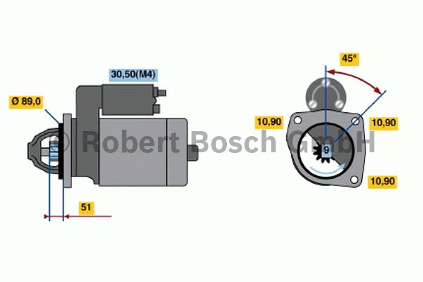 Démarreur - BOSCH - 0 001 367 061