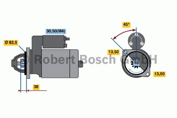 Démarreur - BOSCH - 0 001 367 078