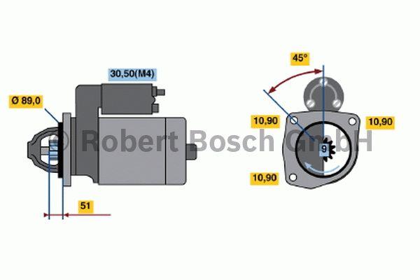 Démarreur - BOSCH - 0 001 368 010