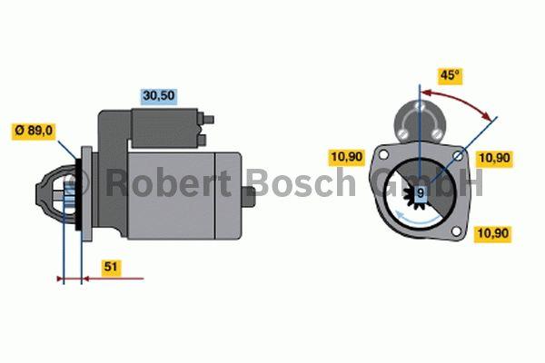 Démarreur - BOSCH - 0 001 368 021