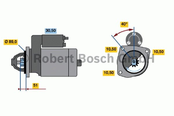 Démarreur - BOSCH - 0 001 368 028