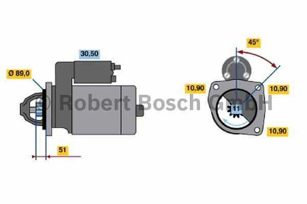Démarreur - BOSCH - 0 001 368 037