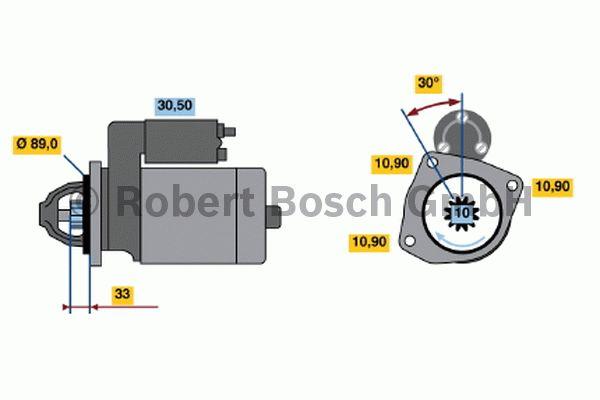 Démarreur - BOSCH - 0 001 368 060