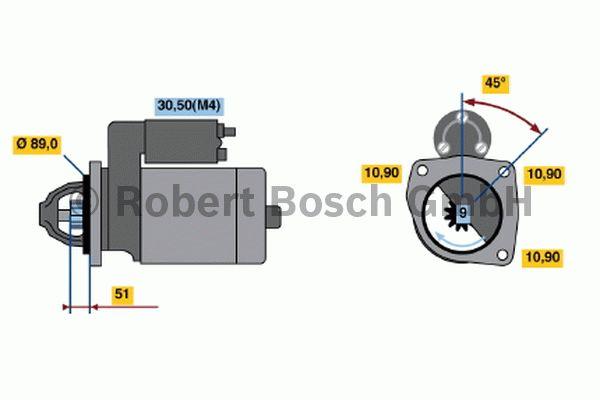 Démarreur - BOSCH - 0 001 368 069