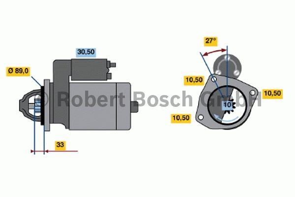 Démarreur - BOSCH - 0 001 368 072