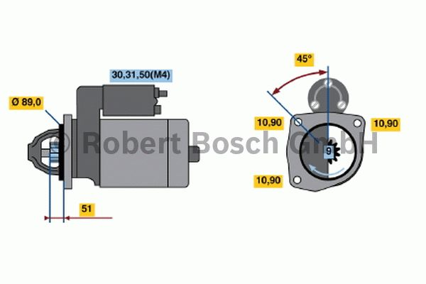 Démarreur - BOSCH - 0 001 368 302