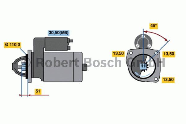 Démarreur - BOSCH - 0 001 368 313