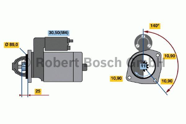 Démarreur - BOSCH - 0 001 369 018