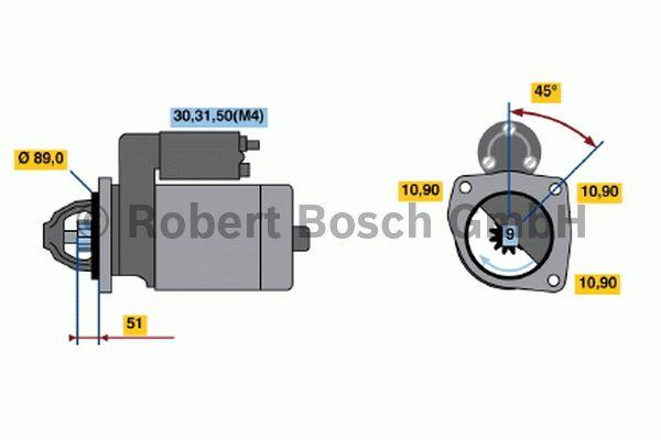 Démarreur - BOSCH - 0 001 369 019