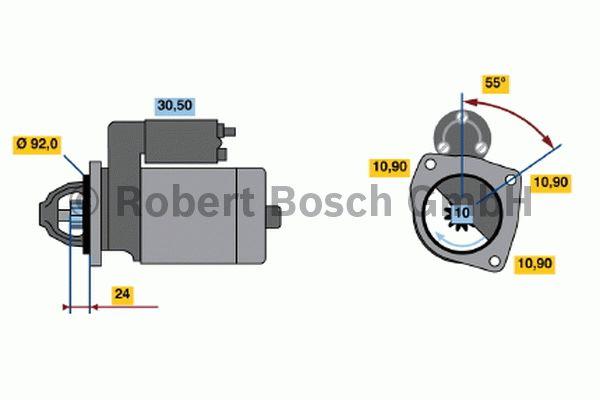 Démarreur - BOSCH - 0 001 369 020