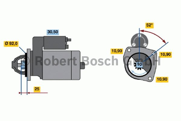 Démarreur - BOSCH - 0 001 369 023