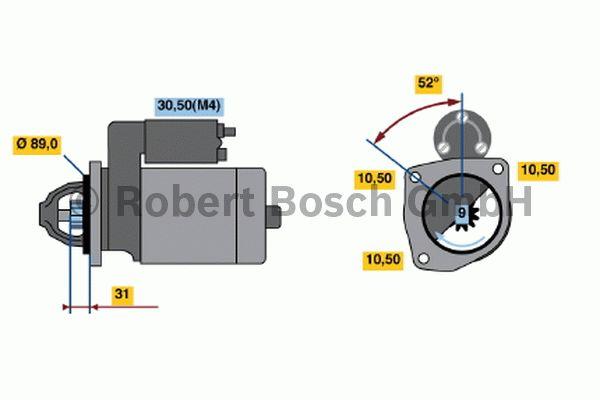 Démarreur - BOSCH - 0 001 369 024
