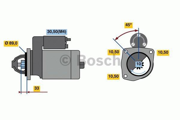 Démarreur - BOSCH - 0 001 369 106