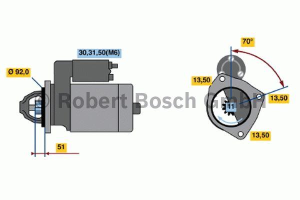 Démarreur - BOSCH - 0 001 371 004
