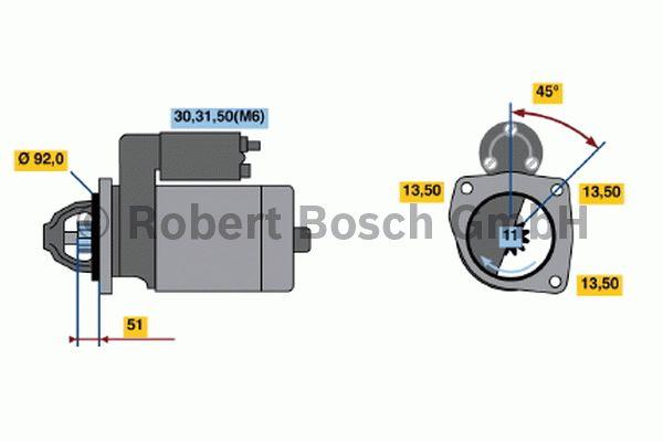 Démarreur - BOSCH - 0 001 371 014