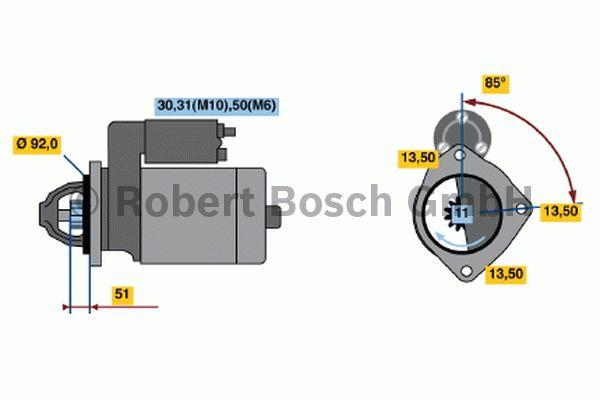 Démarreur - BOSCH - 0 001 371 017