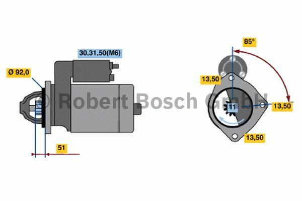Démarreur - BOSCH - 0 001 372 001