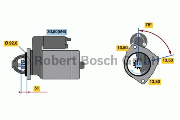 Démarreur - BOSCH - 0 001 372 005