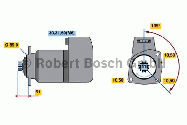 Démarreur - BOSCH - 0 001 416 003