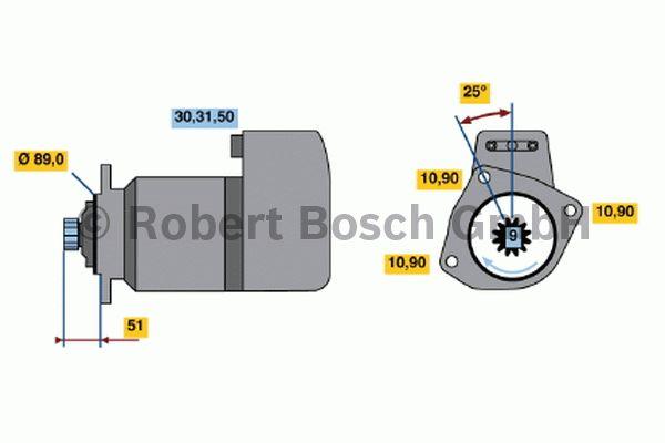 Démarreur - BOSCH - 0 001 416 026