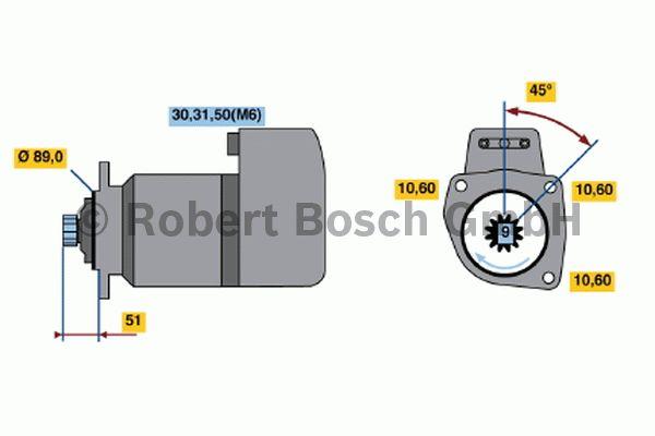 Démarreur - BOSCH - 0 001 416 028