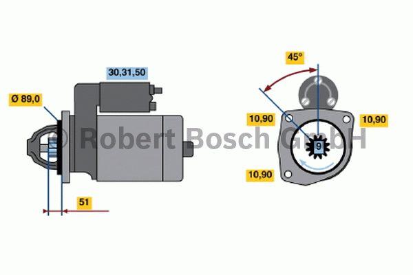 Démarreur - BOSCH - 0 001 416 047