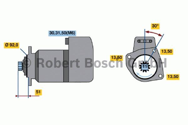 Démarreur - BOSCH - 0 001 416 052