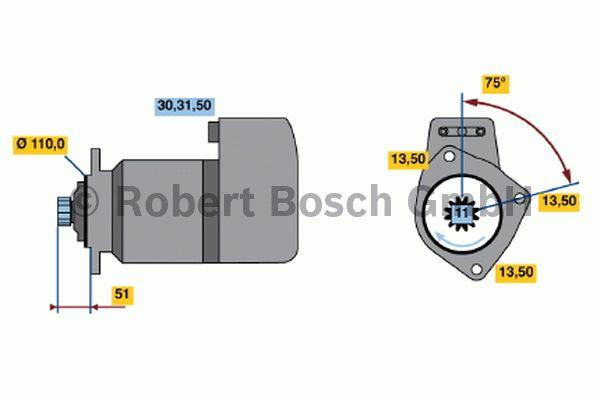 Démarreur - BOSCH - 0 001 416 062