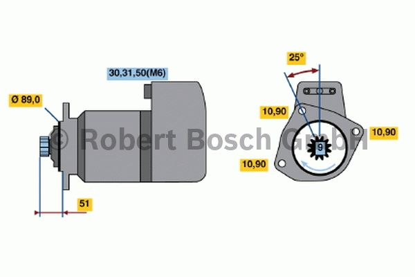 Démarreur - BOSCH - 0 001 416 080