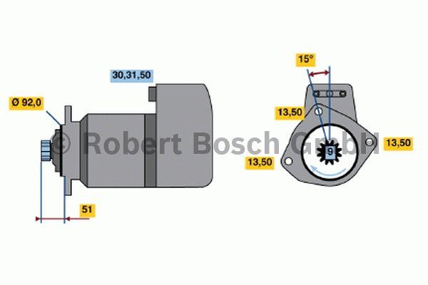 Démarreur - BOSCH - 0 001 417 001