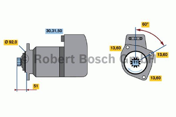 Démarreur - BOSCH - 0 001 417 007