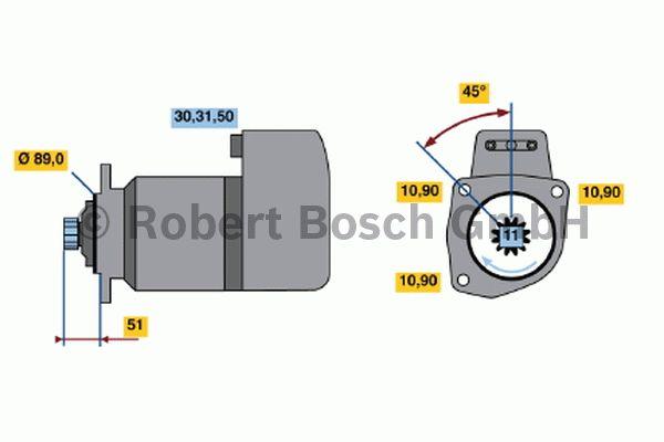 Démarreur - BOSCH - 0 001 417 025