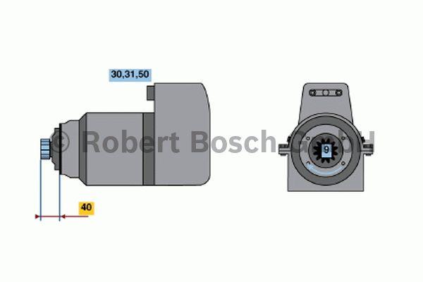Démarreur - BOSCH - 0 001 417 036