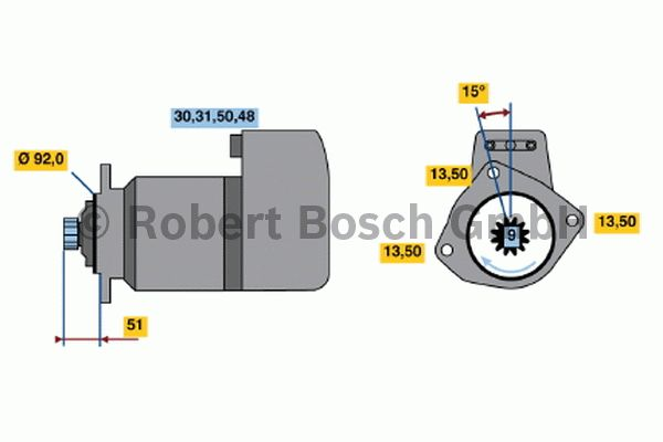 Démarreur - BOSCH - 0 001 417 037