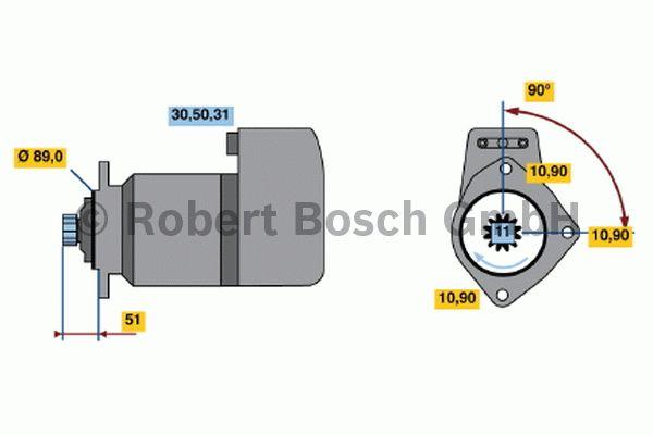 Démarreur - BOSCH - 0 001 417 055