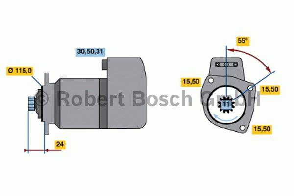 Démarreur - BOSCH - 0 001 417 059
