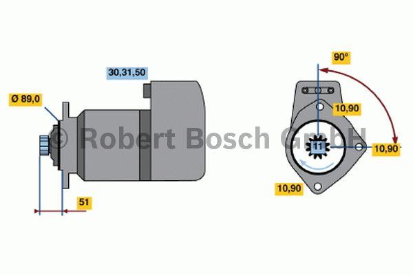 Démarreur - BOSCH - 0 001 417 068