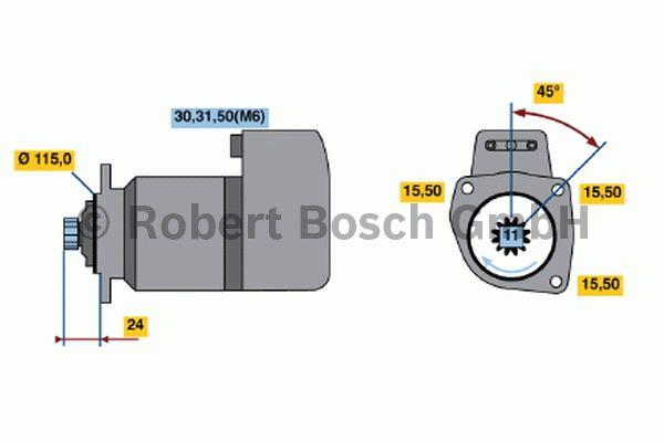 Démarreur - BOSCH - 0 001 417 073