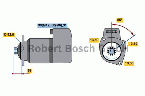 Démarreur - BOSCH - 0 001 417 076