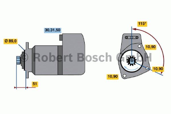 Démarreur - BOSCH - 0 001 417 077