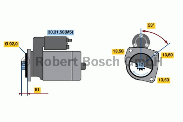 Démarreur - BOSCH - 0 001 420 024