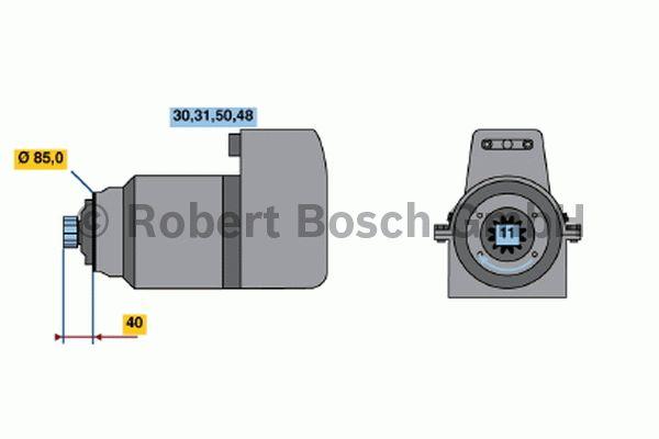 Démarreur - BOSCH - 0 001 510 029