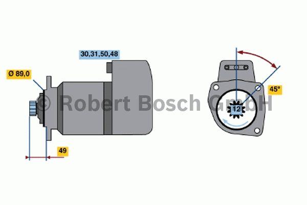 Démarreur - BOSCH - 0 001 510 010