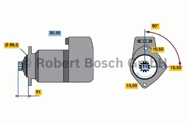 Démarreur - BOSCH - 0 001 510 017