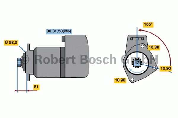 Démarreur - BOSCH - 0 001 510 033