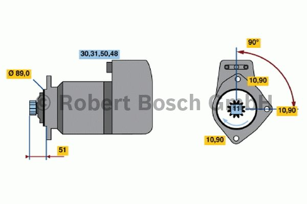 Démarreur - BOSCH - 0 001 510 034