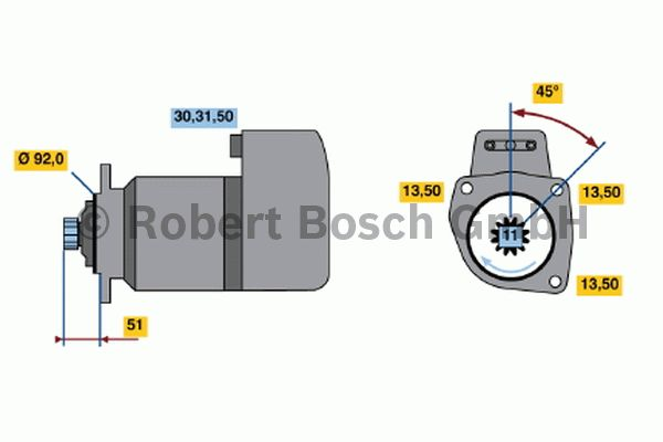 Démarreur - BOSCH - 0 001 510 036