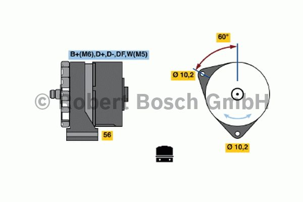 Alternateur - BOSCH - 0 120 450 015