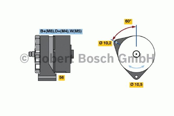 Alternateur - BOSCH - 0 120 468 066