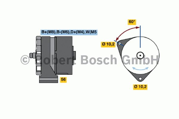 Alternateur - BOSCH - 0 120 468 161